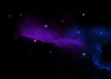 与星的抽象夜星系 免版税库存照片