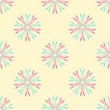 与星的抽象无缝的样式 r 库存例证