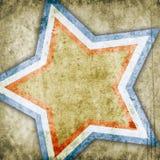 与星的抽象背景 免版税图库摄影