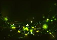 与星的抽象轻的背景 库存图片