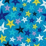 与星的无缝的传染媒介样式。 库存图片