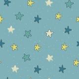 与星的无缝的样式 库存例证