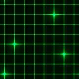 与星的无缝的绿色栅格 免版税库存照片