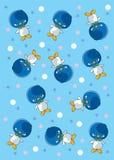 与星的样式企鹅 库存图片