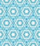 与星的样式在蓝色和白色塑造。