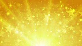 与星的橙色发光的闪耀的录影动画 皇族释放例证