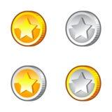 与星的硬币 库存图片