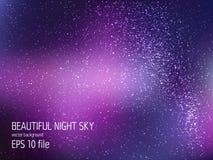 与星的空间向量背景 宇宙例证 与星claster的色的波斯菊背景 向量例证