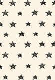 与星的简单的抽象无缝的样式 免版税库存照片