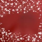 与星的红色背景 库存照片