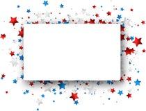 与星的美国独立日背景 向量例证