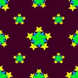 与星的美好的抽象样式在几何形状会集了 库存照片