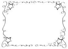 与星的装饰框架边界 免版税库存照片
