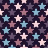 与星的逗人喜爱的无缝的样式 皇族释放例证