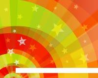 与星的颜色背景 免版税库存图片