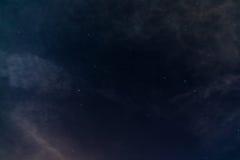 与星空间的夜空 免版税库存图片