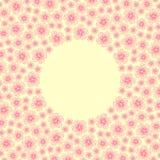 与春天樱桃花的边界框架 库存图片