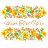 与春天花卉设计的美丽的卡片 免版税库存图片