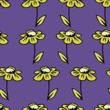 与春黄菊的传染媒介无缝的纹理背景 库存图片