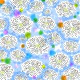 与春黄菊的轻的花卉无缝的模式。 剪切 向量例证