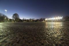 与晚上体育设施的阶段 图库摄影
