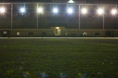 与晚上体育设施的阶段 免版税库存图片