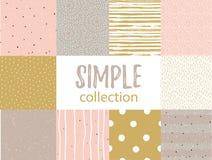 与普遍简单的纹理的传染媒介无缝的样式 为织品、缎带包装和墙纸设置 库存图片