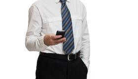与智能手机的商人 免版税库存照片