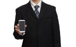 与智能手机的商人 图库摄影