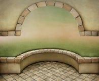 与曲拱的背景 免版税库存照片