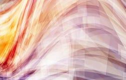 与曲线和漩涡的抽象红色和灰褐色背景 免版税库存图片