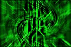 与曲线线的绿色抽象技术背景 向量例证