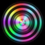 与更多颜色的圆盘纹理 库存例证