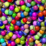 与更多颜色的气球纹理 向量例证