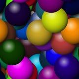 与更多颜色的气球纹理 库存例证