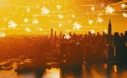 与曼哈顿的难题片断 图库摄影