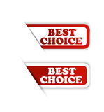 与最佳的选择和畅销品标签的最佳的价格 免版税库存照片