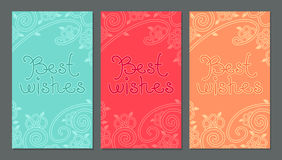 与最好祝愿在上写字的卡片 库存照片