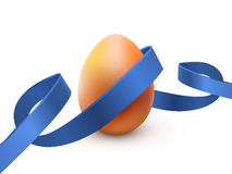 与最高荣誉的复活节彩蛋,在白色 海报或小册子模板 也corel凹道例证向量 库存例证