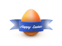 与最高荣誉的复活节彩蛋,隔绝在白色 海报或小册子模板 也corel凹道例证向量 免版税图库摄影