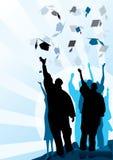 毕业灰浆和文凭 库存照片