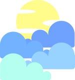 与月亮和云彩的天空 免版税库存图片