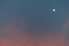 与月亮的天空 免版税库存图片
