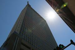 与月亮饼机动性阿拉巴马的大厦 免版税图库摄影