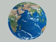 与有些云彩HD的行星地球 免版税库存图片