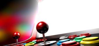 与有启发性屏幕的娱乐游戏 免版税库存图片