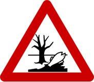 与有害的化学制品的警报信号 向量例证