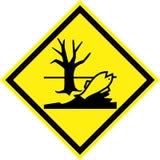 与有害的化学制品的黄色道路危险标志 库存例证