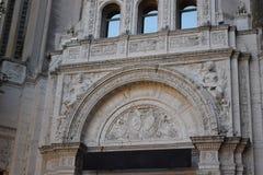 与有趣的艺术品的一个历史建筑 库存图片