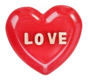 与木字母表块的爱咒语 免版税图库摄影